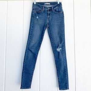 LEVIS 710 Super Skinny Mid Rise Jeans 27